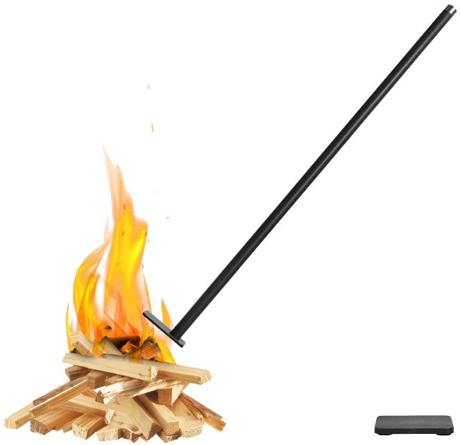 Flamman− blåsbälg & eldgaffel i ett,